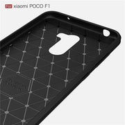 For Xiaomi Pocophone F1 Case Shockproof Carbon Fiber Silicone Bumper Soft Back Cover For Xiaomi Mi Poco F1 F 1 Full Coque Fundas