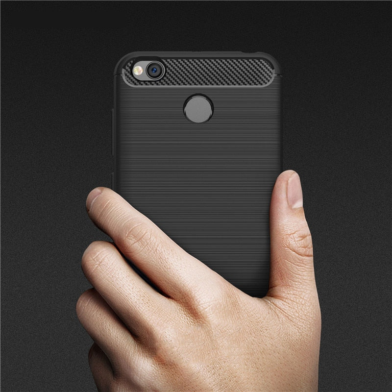 For Xiaomi Redmi 4X Cases Luxury Protective Back Cover Case For Xiaomi Redmi 4X 4 X Mobile Phone Shell Carbon Fiber Case