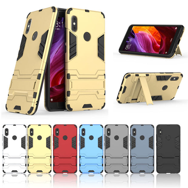 For Xiaomi Redmi Note 5 Case PC+Silicone Iron Man Armor Shock Proof Redmi 5 Plus 3D Shield Case Redmi 6Pro Note 4 4X 5A S2 Cover