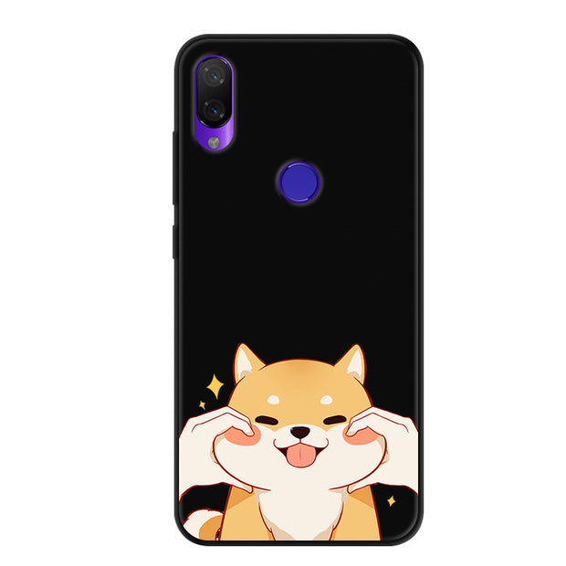 For Xiaomi Mi Play Case Cartoon Printed Soft Silicone TPU Cover For Xiaomi Xiomi Mi Play Phone Cover Black Bumper Mi Play Capa