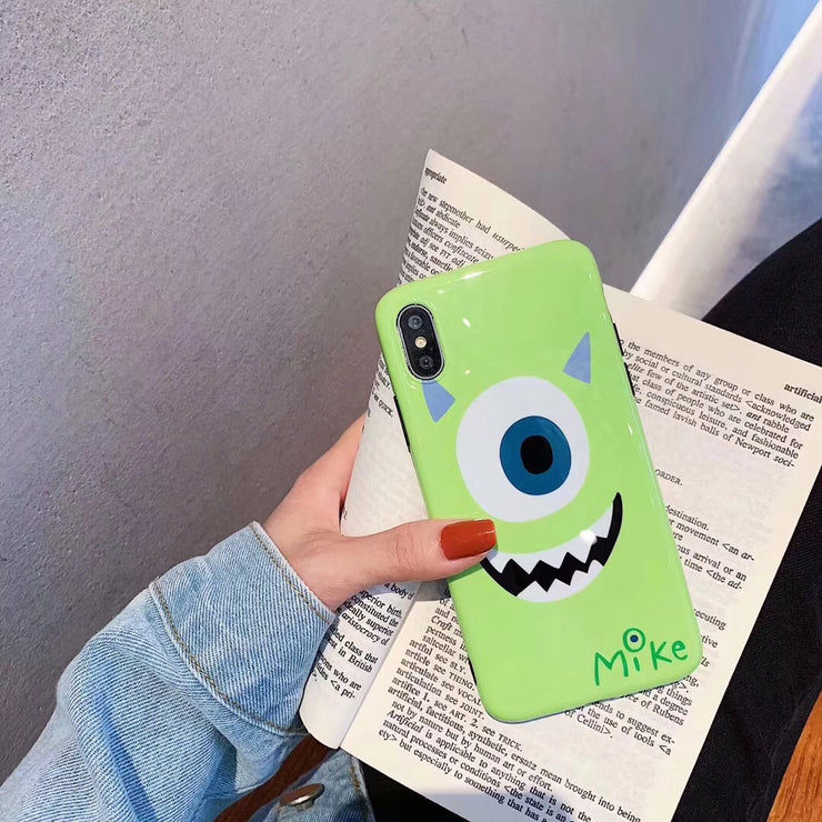 For IPhone X XR XS MAX Cartoon Sulley Mike Phone Case For IPhone 6 6S 7 8 Plus Soft IMD Case Coque Concha