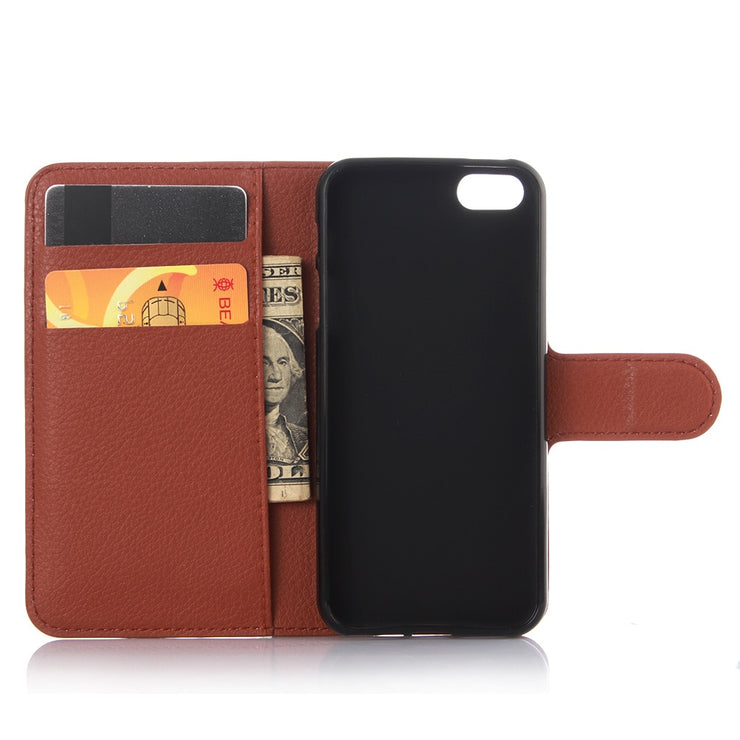 For Iphone SE Case Cover PU Leather Saddle Flip Wallet Case For IPHONE SE Phone Coque Cover