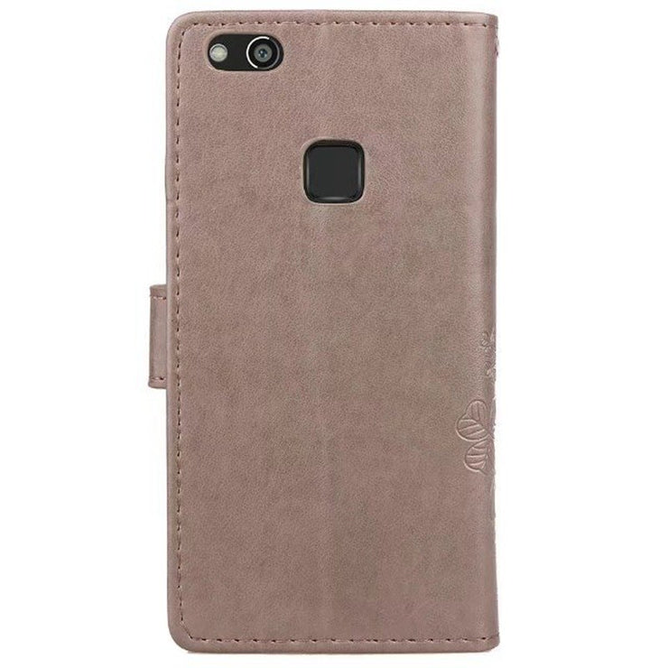 Four-leaf Clover Leather Case For Huawei P Smart Y6 Y9 2018 Honor7 6A 7X V8 V9 6X 5C 4A Wallet Pattern Funda For Honor 8 9 Lite