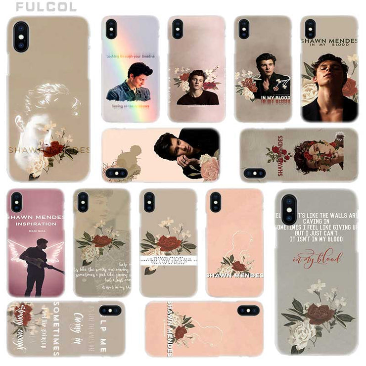 Fulcol Shawn Mendes 98 Transparent Hard Case Cover For IPhone 4 4s 5 5s 5c 6 6s 7 8 X XS SE Plus