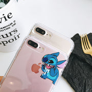 Funny Stitch Phone Cases For Iphone 6 6s 7 8 Plus Transparent Clear Air Cushion Soft TPU Case For Iphone X Cover Bag