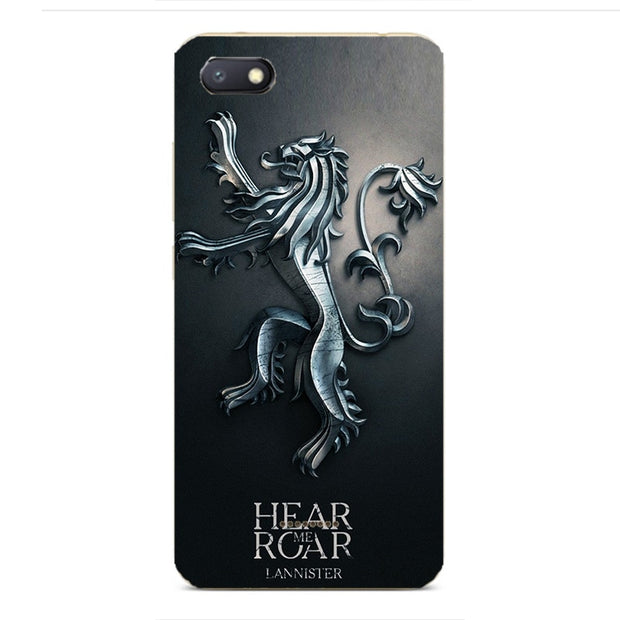 GOT Game Of Throne House Stark Soft Silicone Painting Case For Xiaomi Redmi 4A 4X 5A 6 6A 4 Pro Smart Cell Phone Printed Cover