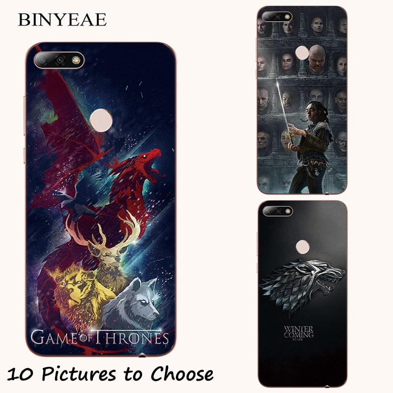 GOT Game Of Throne Stark Soft Silicone Painting Case For Huawei P8 ...