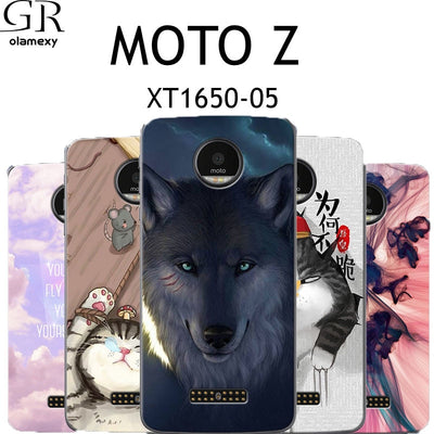 GR Olamexy TPU Phone Case For Motorola Moto Z Force Z2 Force Pattern Cover Shell For Moto Z Play Mobile Cases Bags Free Shipping