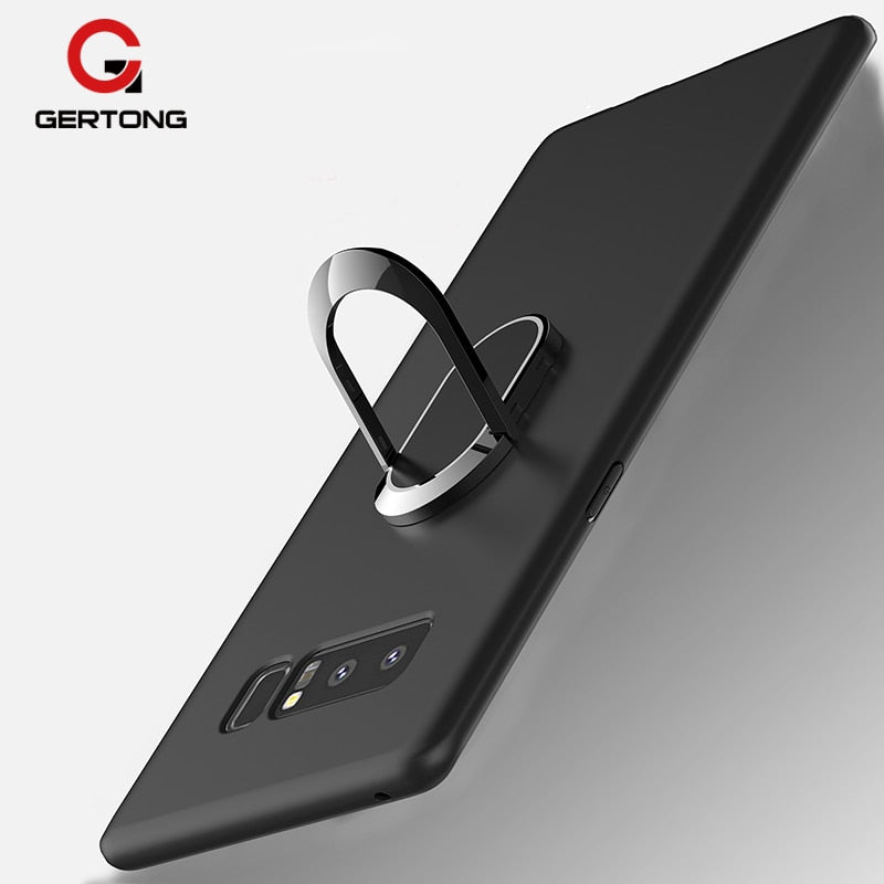 GerTong Case For Samsung Galaxy S8 Plus Note 8 Cover Finger Ring Soft TPU + Magnetic Matel Coque For Samsung Galaxy S8 Note 8