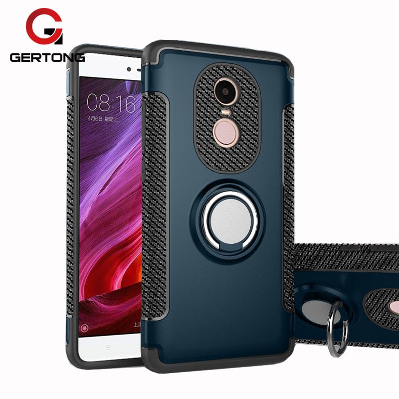 GerTong Case For Xiaomi Mi A1 Mi5X Mi6 MiX 2 For Xiaomi Redmi 4X 4A Note 5A Prime 4 4x Pro Y1 Lite Finger Ring PC + TPU Cover