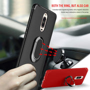 GerTong Phone Bag Case For Huawei P10 Lite P10 Plus For Honor 9 Finger Ring Soft TPU + Magnetic Matel Car Holder Protect Cover