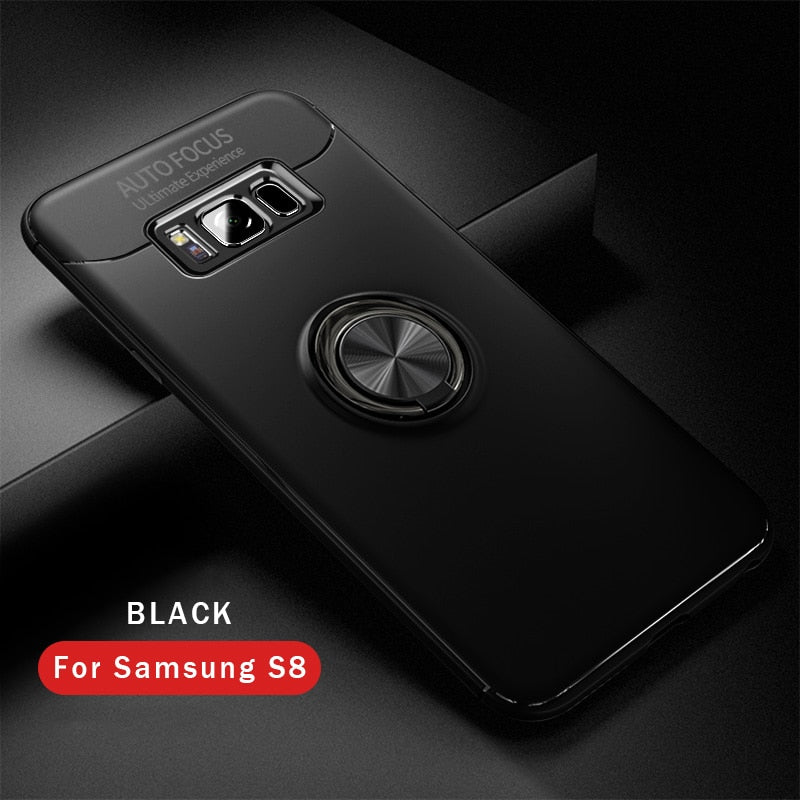 GerTong Phone Kickstand Case For Samsung Galaxy S8 S9 Plus Note 8 360  Rotating Finger Ring Phone Cases For Samsung Galaxy Note 8