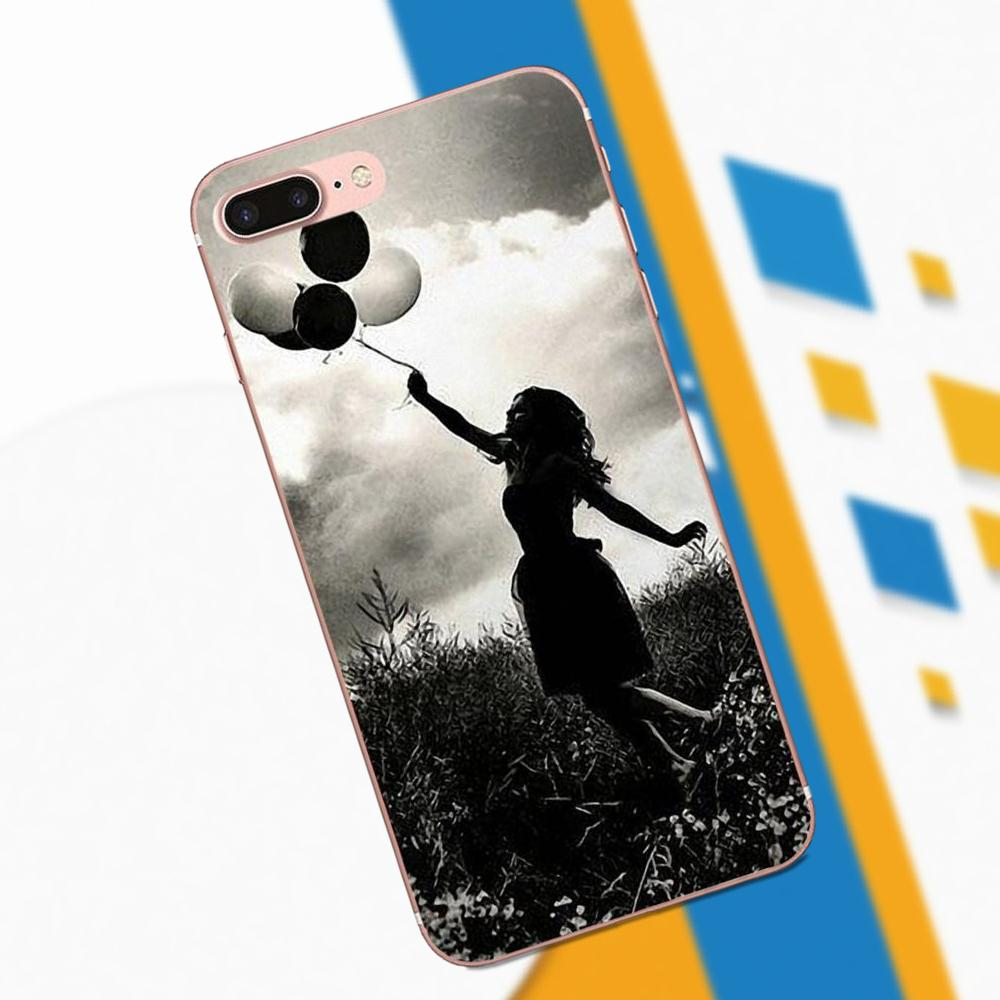 Girl Holding Balloons Dream Life Quote For Galaxy A3 A5 A7 On5 On7 2015 2016 2017 Grand Alpha G850 Core2 Prime S2 I9082