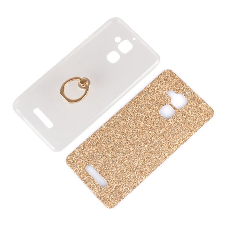 Glitter Case For Asus Zenfone 3 Zenfone3 Max ZC520TL Back Cover Gel Finger Ring Stand Grip Holder Etui Coque Capinha Hoesje Capa