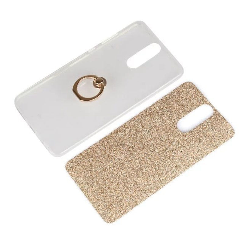 Glitter Finger Ring Soft TPU Phone Case For Huawei Nova Bling Case For Huawei Mate 7 8 9 9Pro Cover With Stand Holder Case