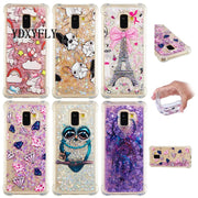 Glitter Floating Quicksand Picture Case For Samsung Galaxy A3 A5 2016 TPU Flowing Liquid Case For A3 A5 A7 2017 A8 Plus 2018