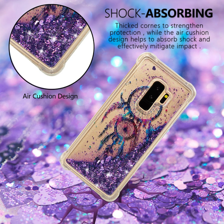 Glitter Floating Quicksand Picture Case For Samsung Galaxy S6 S7 Edge S5 Note 8 TPU Flowing Liquid Case For Galaxy S8 S9 Plus