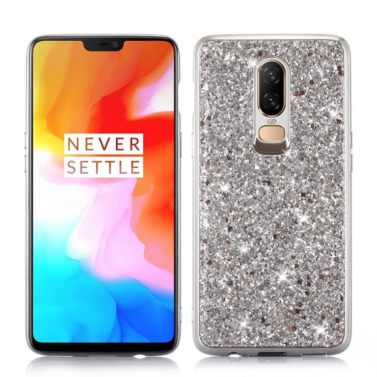 Glitter Phone Case For Oneplus 6 Bling Shinning Crystal Sequins Soft TPU Cover For Oneplus 6 Luxury Cute Girls Fashion Phone Bag
