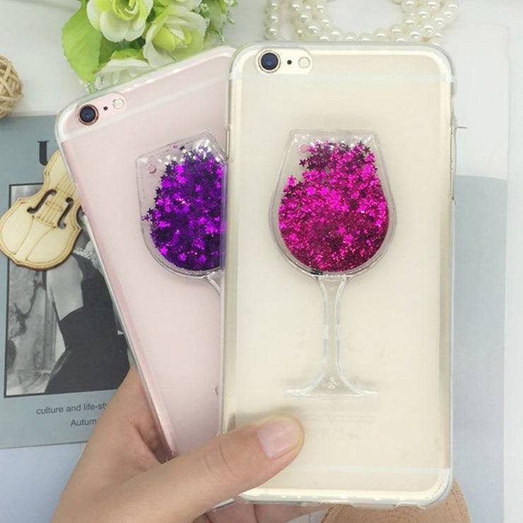 Glitter Quicksand Phone Cases For Xiaomi Mi Max 2 Case Bling Cute Srtars Cup With Soft Silicon Back Cover 3D Capa Fundas