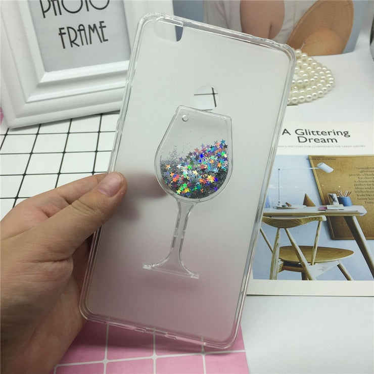 Glitter Quicksand Phone Cases For Xiaomi Mi Max Case Bling Cute Srtars Cup With Soft Silicon Back Cover 3D Capa Fundas