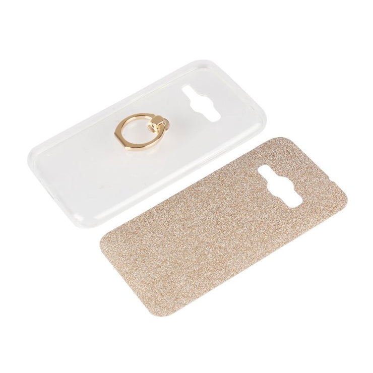 Glitter Ring Holder Case For Samsung Galaxy J1 Ace J1 Mini Prime 2016 Back Cover Finger Grip Gel Capa Hoesjes Etui Capinha Coque