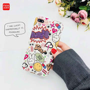 Graffiti Hard PC Case For IPhone 7 8 6 6s Plus Anti-knock Case Cover Ultra Thin Hard PC Back Cases For IPhone X Hard Back Cover