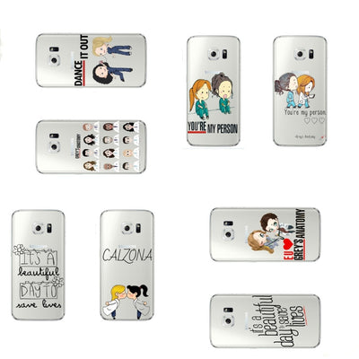 Greys Anatomy You Are My Person Clear Soft TPU Phone Cases For Samsung Galaxy S5 S6 S7 Edge S8 S9 Plus Series Coque Fundas Capa