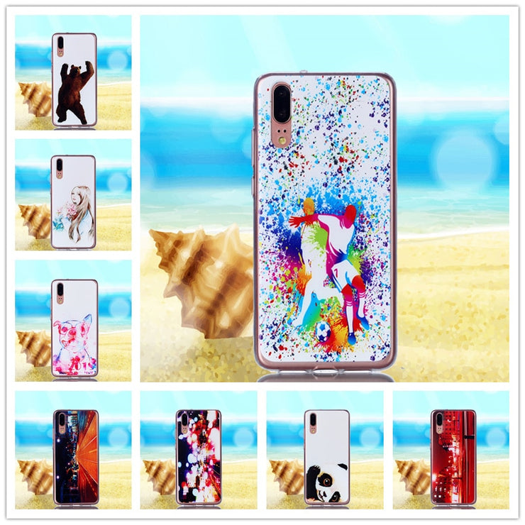 3ef74333a8c HATOLY For Cover Huawei P20 Case Cute Cartoon Soft Silicone Rubber Phone  Case For Huawei P20