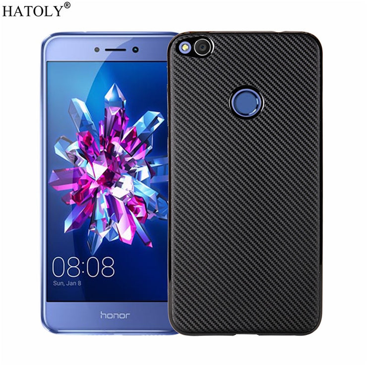 check out 037a4 eaae9 HATOLY For Fundas Huawei GR3 2017 Case P9 Lite 2017 Ultra-thin Soft TPU  Carbon Fibre Back Cover Huawei GR3 2017 / P8 Lite 2017