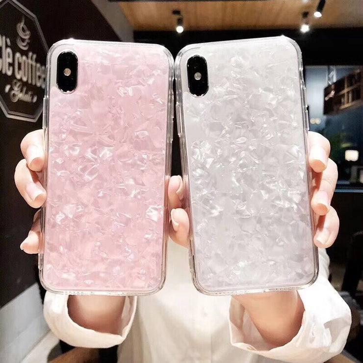 HONGRUNA Simple Hot Fashion Girl Pink Gel Pattern Shiny Phone Cases For Iphone X 8 8Plus 7 7 Plus 6S 6 Cover Soft IMD TPU
