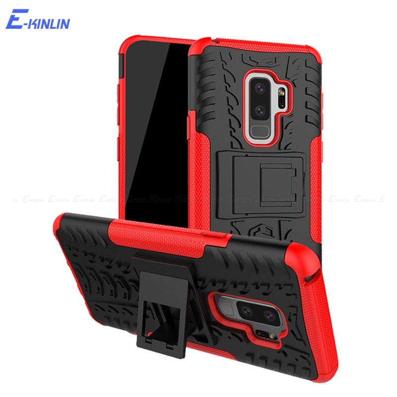 Hard Armor Hybrid Case Back Cover For Samsung Galaxy S9 S8 Note 9 8 A8 A6 J8 J7 Duo J6 J4 Plus J3 J2 Pro A9 A7 2018 A5 A3 2017