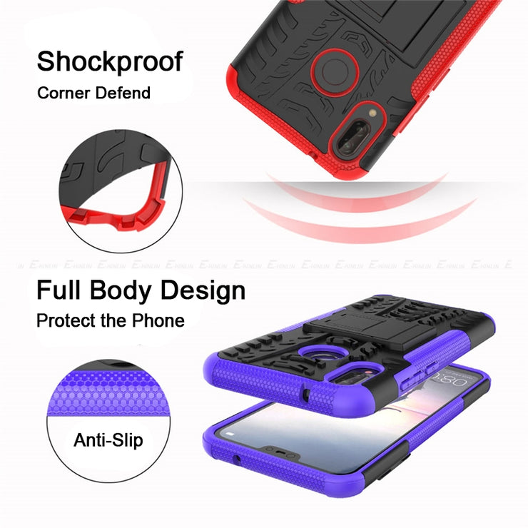 Hard PC Silicone TPU Shockproof Hybrid Case For Huawei Nova 2 Lite 2i 3e 3i P Smart Plus Young Tough Heavy Duty Armor Back Cover