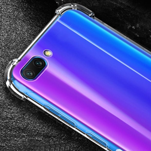 HereCase For Honor 10 Case Bumper Silicone Transparent Tpu For Huawei Honor 10e Case Cover On Accessories Phone Shell