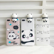 Hot Sale For Iphone X Case 3D Cute Bear Phone Case For Iphone 6S 7 8 Plus Funny Panda Animal English Letter TPU Cases Cover