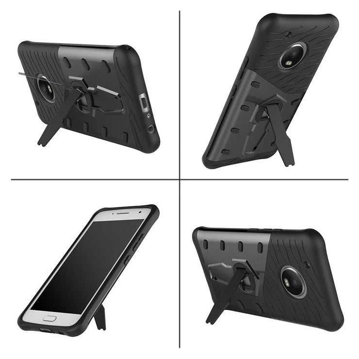 Hybrid Case For Motorola Moto G5 Plus Hard With Stand Armor Silicon+PC Shockproof Protective Back Cover For Moto G5 Plus G5Plus