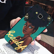 IMIDO Black Girl Magic Melanin Poppin Cover Case For Samsung J1 J3 J5 2016 Or For GALAXY J7 A5 A53 A7 P82