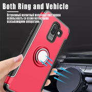 J8 Case For Samsung Galaxy J8 2018 Cover Armor 360 Full Protection Ring Magnetism Holder Shockproof TPU+PC Sfor SM-J800FN Coques