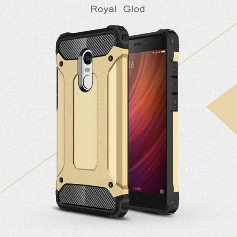 JCASE Fashion 2 In 1 PC+ TPU Cell Phone Case For XiaoMi Redmi 4 X A Note 4 X Armor Shwll Cover For Redmi 3 S Pro Note 3 Cases