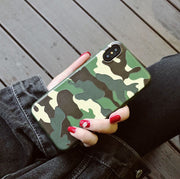 JSPYL Fashion Matte TPU Soft Silicone Case For IPhone X Back Cover Camouflage Phone Case For IPhone 7 8 Plus 6 6s Plus Fundas