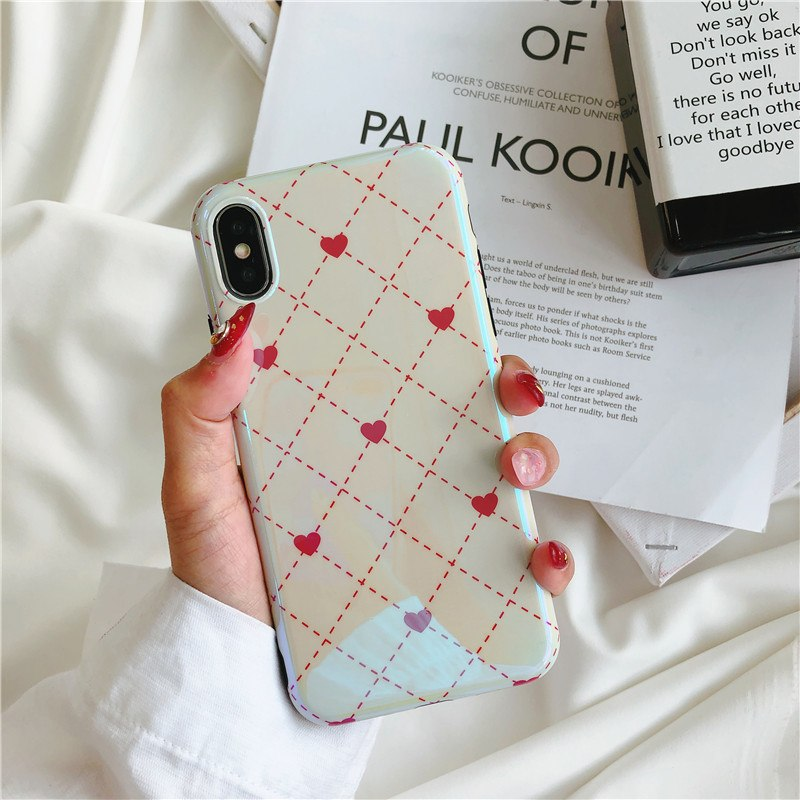 JSPYL Lovely Cute Heart Phone Case For IPhone 8 7 Plus 6 6s Plus Cover Ultra Thin Soft TPU Couples Back Cases For IPhone X Capa