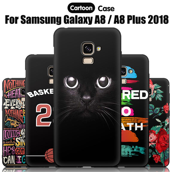 dcf331abc81 JURCHEN Phone Case For Samsung Galaxy A8 2018 Case Silicone Cartoon So