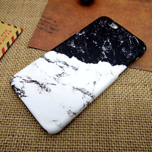 JiBan Fashion Marble Coque Phone Case For IPhone 6 6S Plus 7 8 Plus 5S X Cases 3D Thermal Transfer Process Surface Frosted