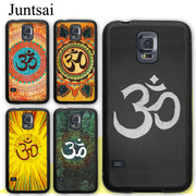 Juntsai Aum Om Yoga Symbol Hindu Fitness Gym Tree Rubber Case For Samsung Galaxy S8 S9 Plus S5 S6 S7 Edge Note 8 4 5 Phone Cases