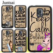 Juntsai Keep Calm Camping Cycling Sufing Ride On Rubber Case For Samsung Galaxy S8 S9 Plus S5 S6 S7 Edge Note 8 4 5 Phone Cases