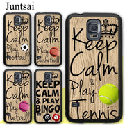 Juntsai Keep Calm Play Tennis Bingo Netball Soft Rubber Case For Samsung Galaxy S8 S9 Plus S5 S6 S7 Edge Note 8 4 5 Phone Cases