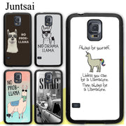 Juntsai No Drama Prob Llama Lama Soft Rubber Case For Samsung Galaxy S8 S9 Plus S5 S6 S7 Edge Note 8 4 5 Phone Cases