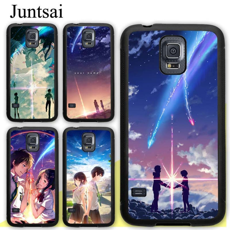 Juntsai Your Name Anime Kimi No Nawa Soft Rubber Case For Samsung Galaxy S8 S9 Plus S5 S6 S7 Edge Note 8 4 5 Phone Cases