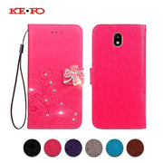 KEFO Magnetic Wallet Phone Case For Samsung Galaxy J7 2016 2017 Glitter Diamond Cover For Samsung Galaxy J7 Pro J7 Prime Coque