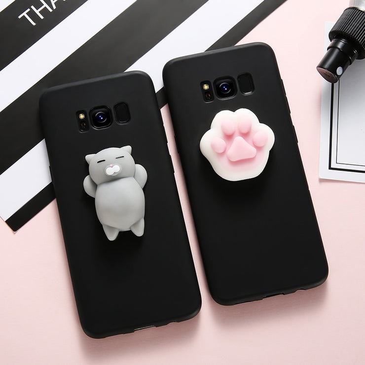 huge discount 26916 426f6 KISSCASE Squishy Cat Phone Case For Samsung Galaxy S8 S7 S6 Note 8 ...