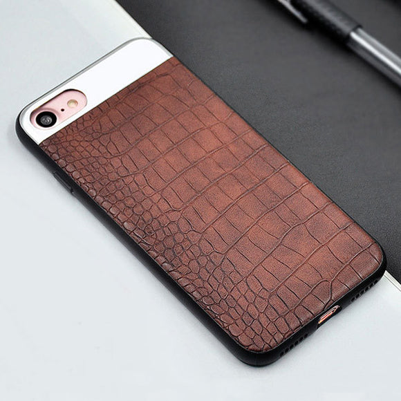 Kasatin Crocodile Pattern Leather Case For IPhone 6 S 6S 7 8 Plus X 10 Snake Grain Phone Cover For I Phone 6 7 Plus Mobile Coque